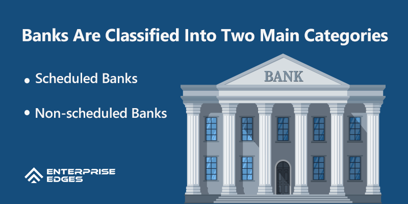Banks Are Classified Into Two Main Categories